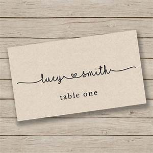25 best ideas about place cards on pinterest wedding With place card printing template