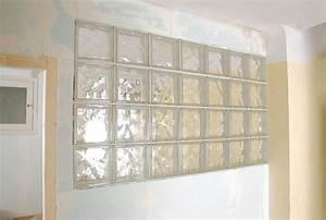 Panneau Brique De Verre : cloison en briques de verre bricolage avec robert ~ Dailycaller-alerts.com Idées de Décoration