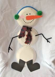 family crafts and recipes christmas crafts paper plate snowman