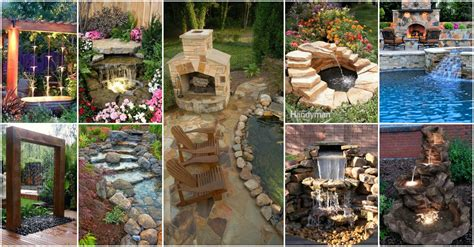 backyard decoration backyard waterfalls and ponds to beautify your outdoor decor