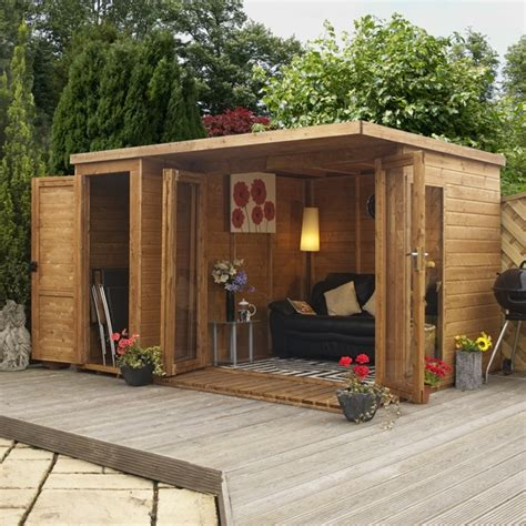 bin steel kitchen compost 12 x 8 waltons contemporary summerhouse with side shed lh