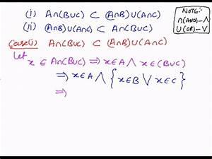 Algebra Proofs Laws Of Set Operations Distributive Law 2