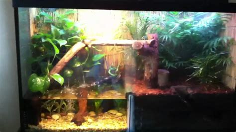 land and water aquarium water tank