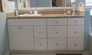 Traditional White Shaker Bathroom Vanities - RTA Kitchen