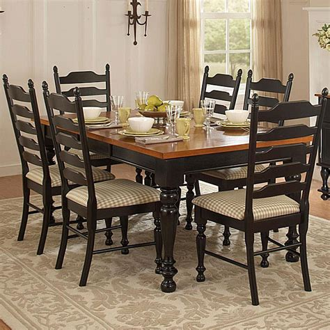 Two Tone Dining Room Tables Inspiring Well Country Charm