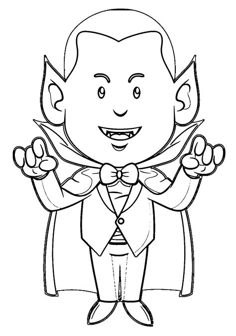 vampire color coloring pages print coloring