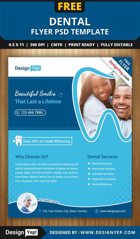 Free Dental Brochure Templates by Free Dental Flyer Psd Template 1414 Designyep Free