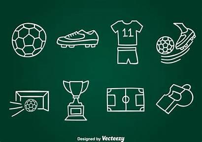 Football Vector Drawn Hand Element Vectors Clipart
