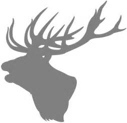 Stag Head Silhouette | Free vector silhouettes