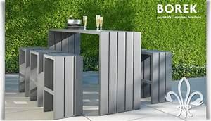 Barhocker Für Draußen : outdoor bartisch mit hockern f r garten terrasse ~ Michelbontemps.com Haus und Dekorationen