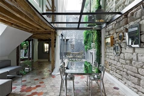 Two Story Apartment with a Glass Floor in Paris « Kitchen