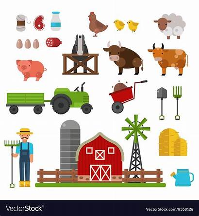 Animals Farm Symbols Production Vector Drink