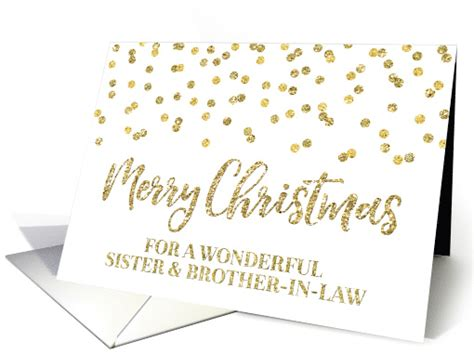 Gold Glitter Effect Confetti Merry Christmas Sister
