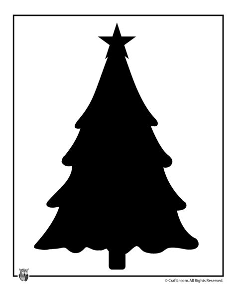 christmas village trees silhouette template christmas tree template crafts pinterest christmas