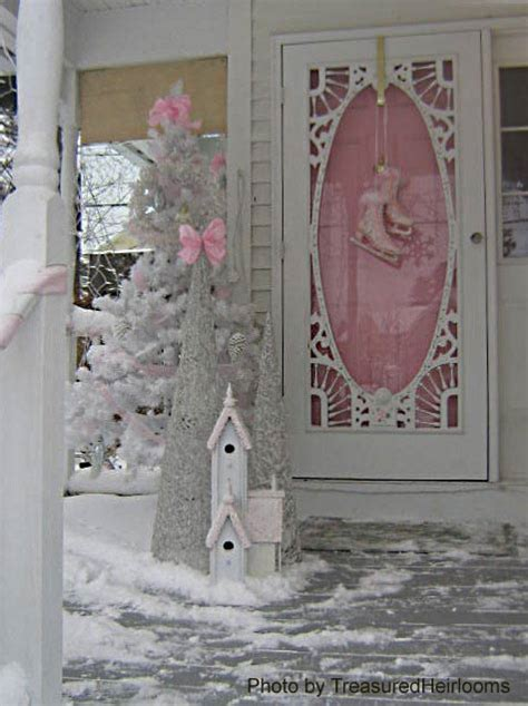 snowy winter scenes  front porches winter decorating