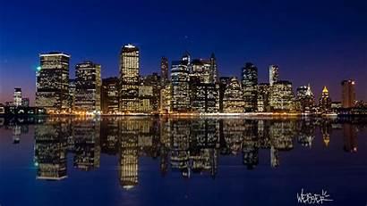 Night Skyline Manhattan Wallpapers 1366 Cityscape