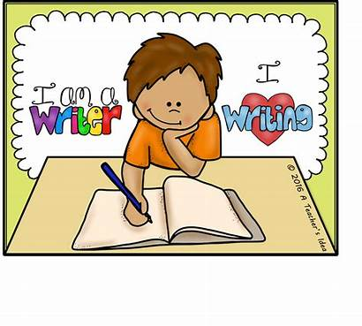Writing Clipart Creative Kid Children Young Story