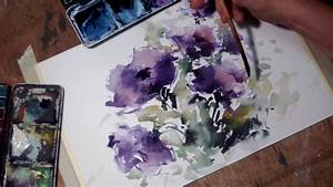 hedwig 39 s purple flowers watercolor