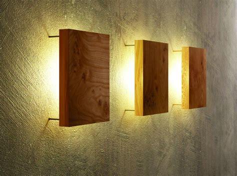wandleuchte holz  wohnen wandlampen wohnzimmer