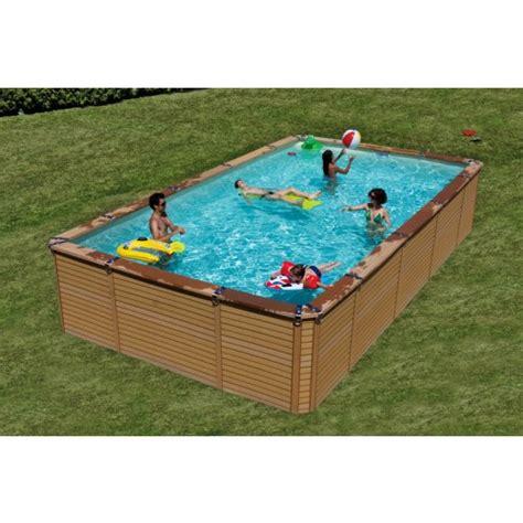 zodiac azteck hors sol rectangle 5 3x3 65m piscine bois composite piscine hors sol espace