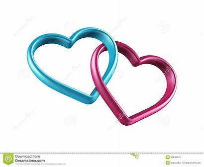Hearts Clip Symbol Friendship Clipart Linked Colorful