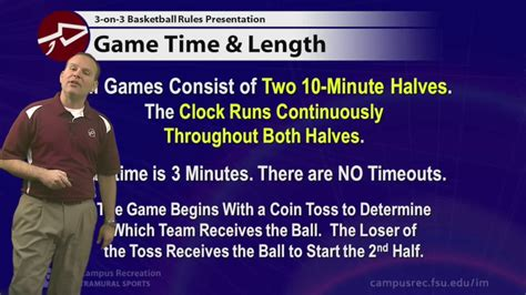 Fsu Im 3on3 Basketball Rules Presentation Youtube