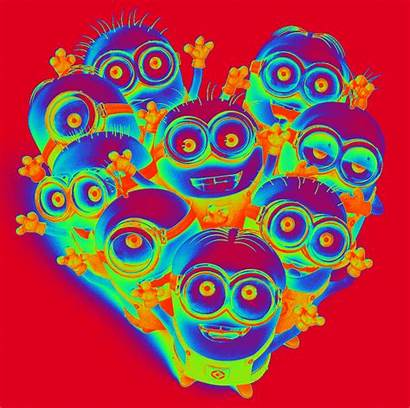 Psychedelic Minions Animated Telephone Despicable Trippy Gifs