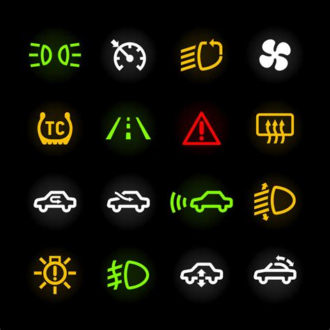 Car dashboard icons. Vector.   Behind the Wheel