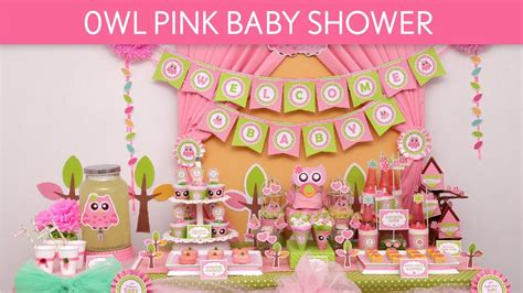 owl pink baby shower ideas owl pink  youtube