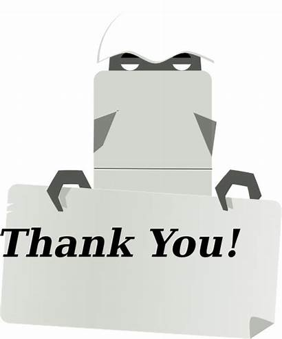 Thank Sign Robot Holding Clip Clker Clipart