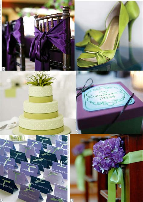 wedding theme purple and green purple green jpg