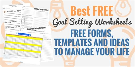 smart goal setting worksheets  templates