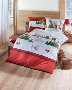 Günstige Bettwäsche 155x220 : biber bettw sche f r weihnachten 135x200 155x220 in rot ~ Watch28wear.com Haus und Dekorationen