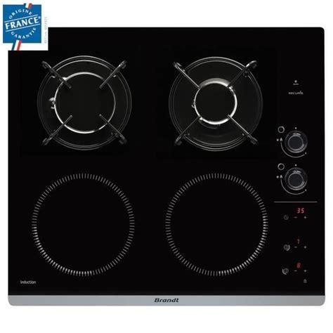 brandt bpi6413bm table de cuisson mixte gaz et induction achat vente plaque induction