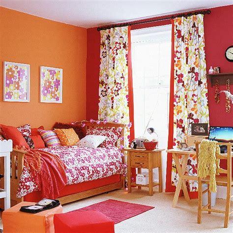 Orange And Red Bedroom  Colourful Children's Bedroom