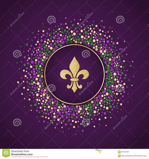 Golden Fleur De Lis Seamless Pattern Gold Template