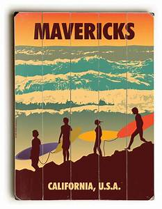 mavericks wooden sign beach style novelty signs by With kitchen cabinets lowes with she believed she could so she did wall art