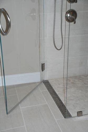 Fall In Shower Floor by Shower Pan Curbless Shower With A Linear Drain At The