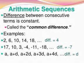 Arithmetic and Geometric Sequences Definition