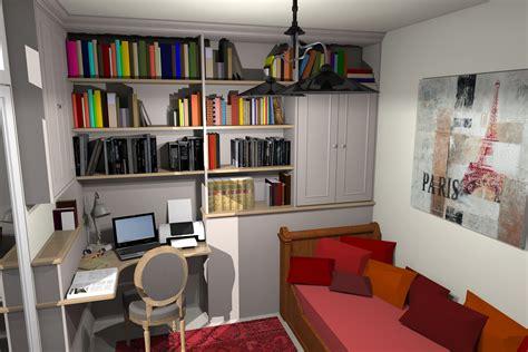 am駭agement bureau chambre d amis un bureau une bibliothèque et une chambre d 39 amis dans 10m architecte d 39 intérieur et suivi de travaux