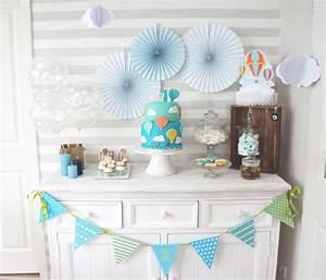 Deko Für 1 Geburtstag : ein sweet table mit hei luftballons f r den 1 geburtstag baby belly party blog ~ Buech-reservation.com Haus und Dekorationen