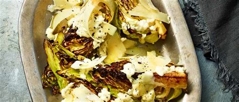 Charred Hispi cabbage with parmesan dressing - Flipboard
