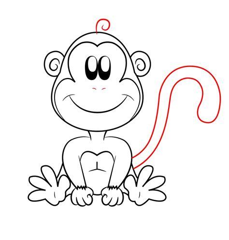 draw  cartoon monkey draw central