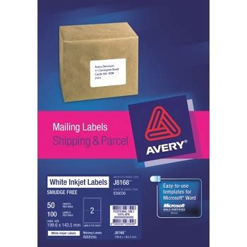 Avery Shipping Labels 8168 Template 4 Labels Per Sheet Avery 174 Inkjet Mailing Labels