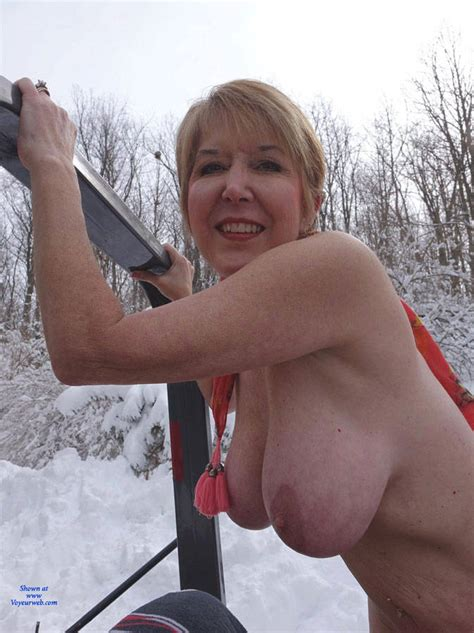 Good Wife Plows The Snow In The Nude March 2015