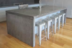 granite top kitchen island table concrete studio handmade concrete bench tops and basins