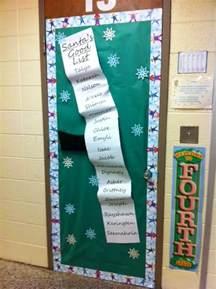 naughty or nice santas list classroom door decoration