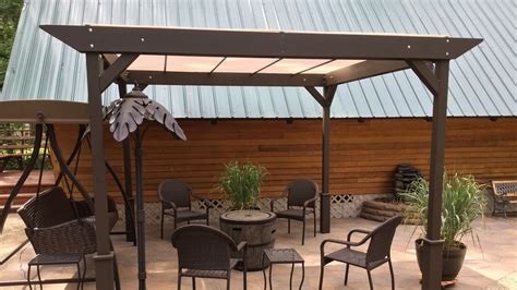framed pool canopy cover diy how i built a simple stand alone sun shade shelter