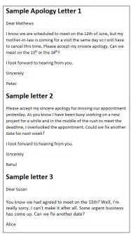 Business Apology Letter Sample