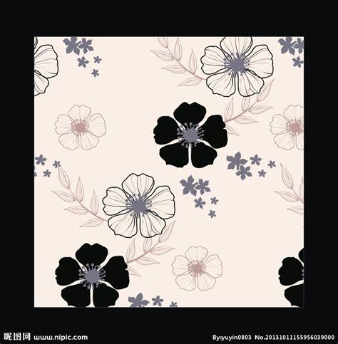 黑白花卉设计矢量素材矢量图__背景底纹_底纹边框_矢量图库_昵图网nipic.com